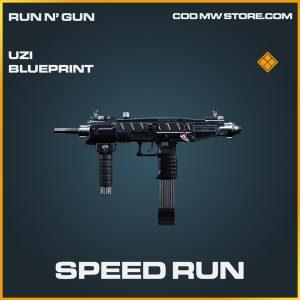 Speed Run uzi skin legendary blueprint call of duty modern warfare item