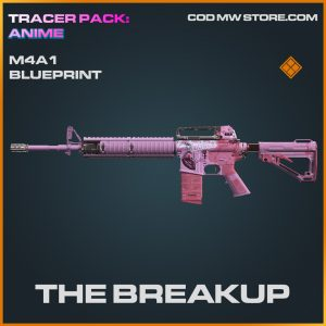 The Breakup M4A1 Skin legendary blueprint Tracer Pack Anime bundle call of duty modern warfare item