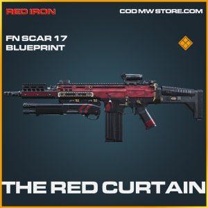 The Red Curtain FN Scar 17 Skin legendary blueprint call of duty modern warfare item