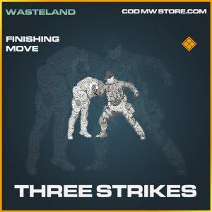 Three strikes finishing move legendary call of duty modern warfare item