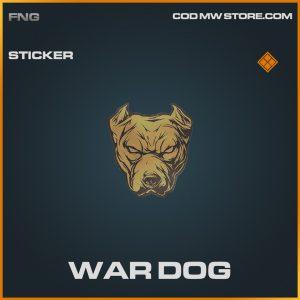 War Dog sticker legendary call of duty modern warfare item