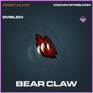 Bear Claw epic emblem call of duty modern warfare warzone item