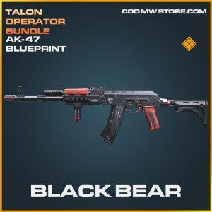 Black Bear AK-47 skin legendary blueprint call of duty modern warfare warzone item