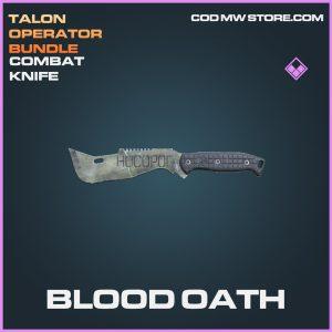 Blood Oath Combat knife epic call of duty modern warfare warzone item
