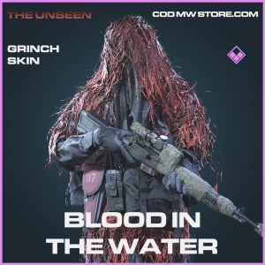 Blood in the water Grinch skin epic call of duty modern warfare warzone item