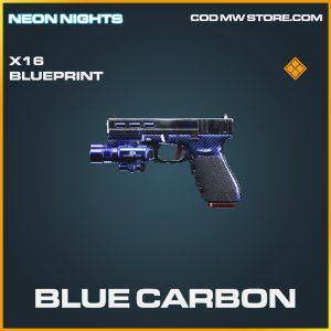 Blue Carbon X16 skin legendary blueprint call of duty modern warfare warzone item