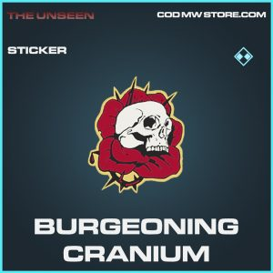 Burgeoning Cranium sticker rare call of duty modern warfare warzone item