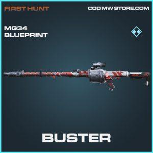 Buster MG34 skin rare blueprint call of duty modern warfare warzone item