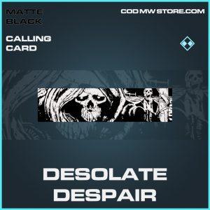 Desolate Despair calling card rare call of duty modern warfare warzone skin