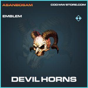 Devil horns emblem rare call of duty modern warfare warzone item
