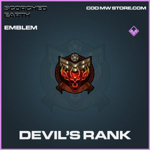 Devil's Rank emblem epic call of duty modern warfare warzone item