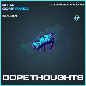 Dope Thoughts spray rare call of duty modern warfare item
