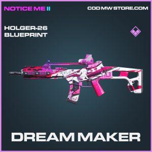 Dream Maker Holger-26 skin epic blueprint call of duty modern warfare warzone item