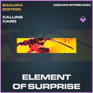 Element of surprise epic calling card call of duty modern warfare warzone item