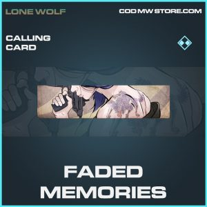 Faded memories calling card rare call of duty modern warfare warzone item