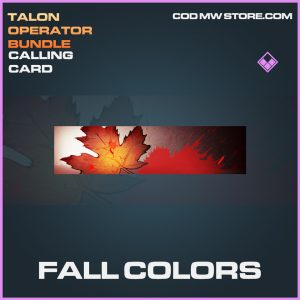 Fall Colors calling card epic call of duty modern warfare warzone item