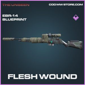 Flesh Wound EBR-14 skin epic blueprint call of duty modern warfare warzone item