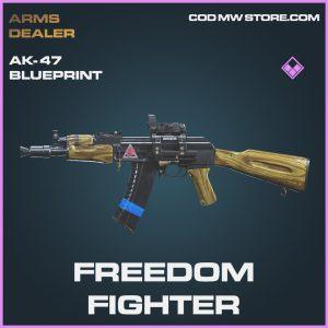 Freedom Fighter AK-47 AK47 skin epic blueprint call of duty modern warfare warzone item