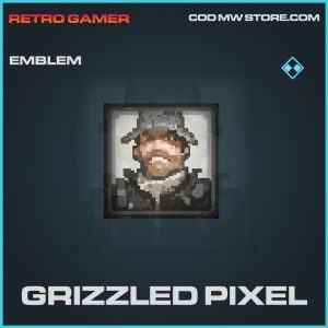 Grizzled Pixel emblem rare call of duty modern warfare item