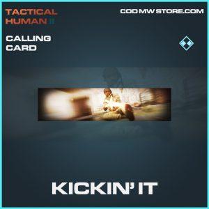Kickin' It Calling card rare call of duty modern warfare warzone item