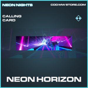 Neon horizon calling card rare call of duty modern warfare warzone item