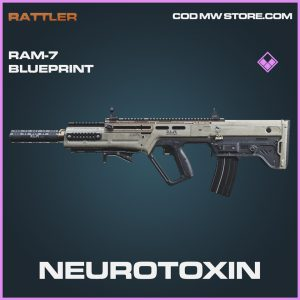 Neurotoxin RAM-7 skin blueprint epic call of duty modern warfare warzone item