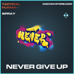 Never Give Up spray rare call of duty modern warfare warzone item