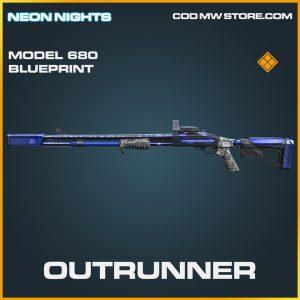 Outrunner Model 680 skin legendary blueprint call of duty modern warfare warzone item
