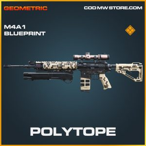 Polytope M4A1 skin legendary blueprint call of duty modern warfare warzone item