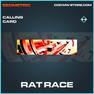 Rat Race calling card rare call of duty modern warfare warzone item