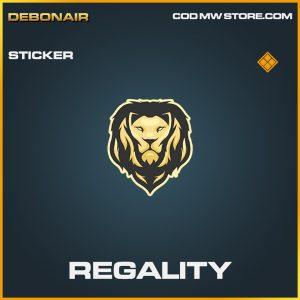 Regality sticker legendary call of duty modern warfare item