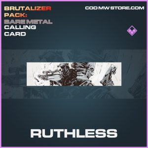 Ruthless epic calling card call of duty modern warfare warzone item