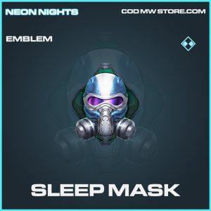 Sleep Mask emblem rare call of duty modern warfare warzone item