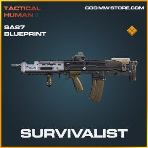 Survivalist SA87 skin legenary blueprint call of duty modern warfare warzone item
