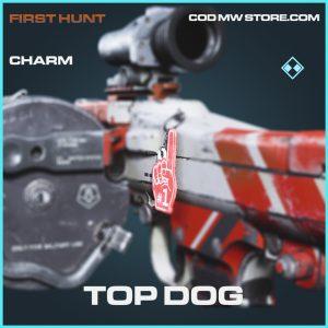 Top Dog charm rare call of duty modern warfare warzone item