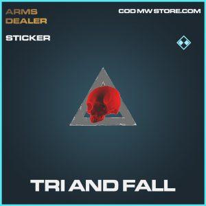 Tri and Fall sticker rare call of duty modern warfare warzone item