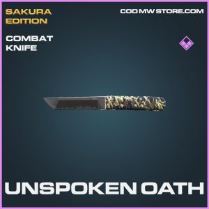 Unspoken oath combat knife epic call of duty modern warfare warzone item