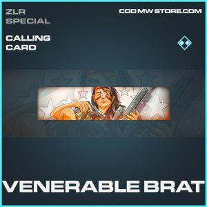 Venerable Brat rare calling card call of duty modern warfare warzone item