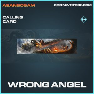 Wrong angel calling card rare call of duty modern warfare warzone item