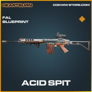 Acid SPit FAL skin legendary blueprint call of duty modern warfare warzone item