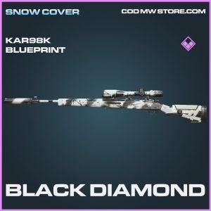 Black Diamond Kar98k skin epic blueprint call of duty modern warfare warzone item