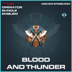 Blood and thunder emblem rare call of duty modern warfare warzone item