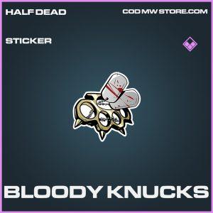 Bloody Knucks sticker epic call of duty modern warfare warzone item