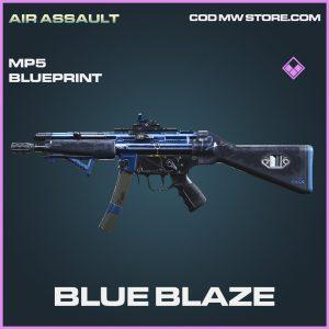 Blue Blaze MP5 skin epic blueprint call of duty modern warfare warzone item
