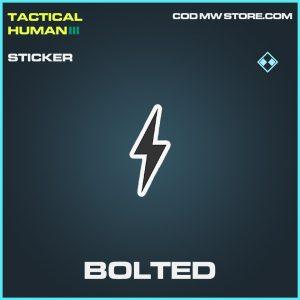 Bolted sticker rare call of duty modern warfare warzone item