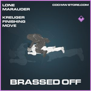 Brassed Off Kreuger finishing move epic call of duty modern warfare warzone item