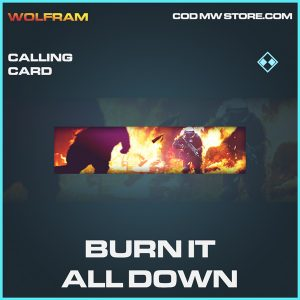 Burn it all down calling card rare call of duty modern warfare warzone item