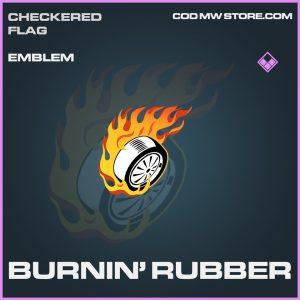 Burnin' Rubber epic emblem call of duty modern warfare warzone item