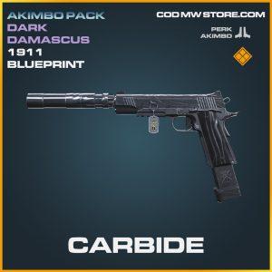 Carbide 1911 skin legendary blueprint call of duty modern warfare warzone item
