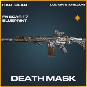Death Mask FN Scar 17 skin legendary blueprint call of duty modern warfare warzone item